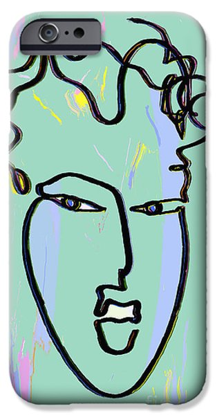 Abstract Digital Drawings iPhone Cases - Attraction Copyright Theo J Huckins 2015  TJH_1085a_003af   iPhone Case by Theo J Huckins