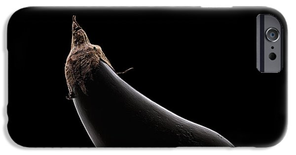 Cutout Photographs iPhone Cases - Aubergine still life iPhone Case by Johan Swanepoel