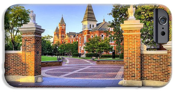 Toomers Corner iPhone Cases - Auburn University Mornings iPhone Case by JC Findley
