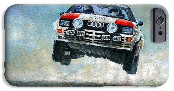 Group iPhone Cases - AUDI Quattro A2  iPhone Case by Yuriy Shevchuk