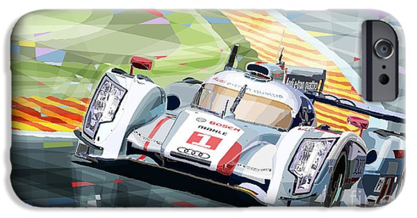 Racing Mixed Media iPhone Cases - AUDI R18 e-tron quattro iPhone Case by Yuriy  Shevchuk