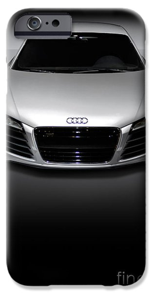 Sportcars iPhone Cases - Audi R8 Sports Car iPhone Case by Oleksiy Maksymenko