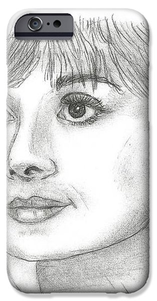 Audrey Hepburn Smile iPhone Case by Steven White