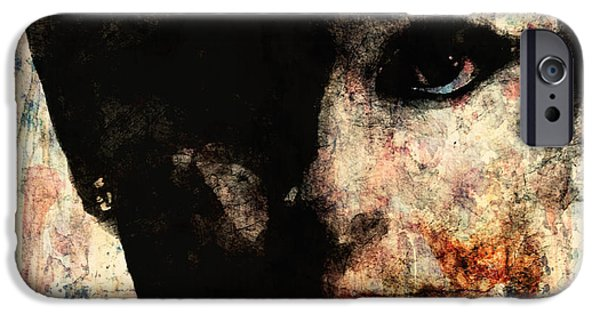 Lips Mixed Media iPhone Cases - Audrey iPhone Case by Paul Lovering