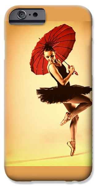 Ballet Dancers iPhone Cases - Audrey Would iPhone Case by Monte Arnold