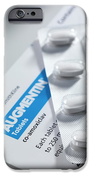 Augmentin Antibiotic Pills iPhone Case by Tek Image