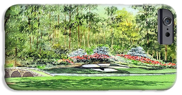 Bobby iPhone Cases - Augusta National Golf Course iPhone Case by Bill Holkham
