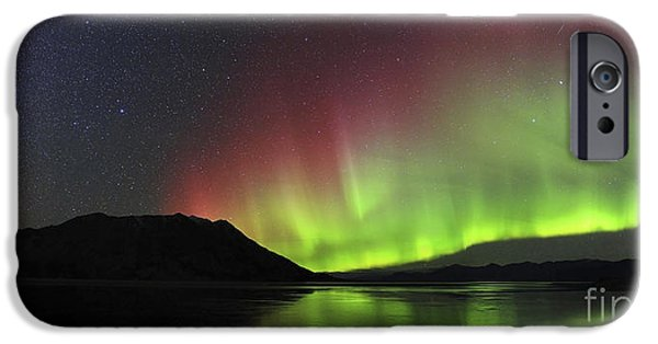 Atmospheric iPhone Cases - Aurora Borealis Milky Way And Big iPhone Case by Joseph Bradley
