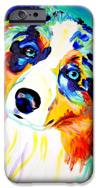 Fine Artwork iPhone Cases - Aussie - Moonie iPhone Case by Alicia VanNoy Call