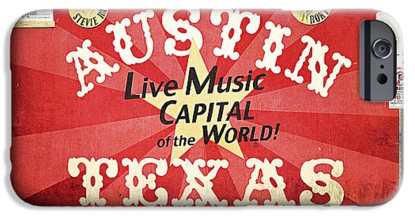 Mural Photographs iPhone Cases - Austin Live Music iPhone Case by Trish Mistric