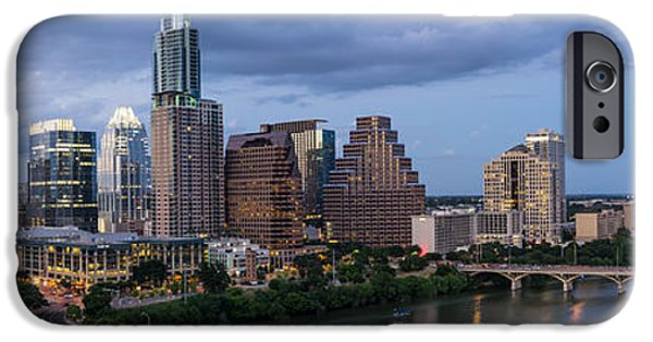 First Lady iPhone Cases - Austin Night Cityscape From Above  iPhone Case by Tod and Cynthia Grubbs
