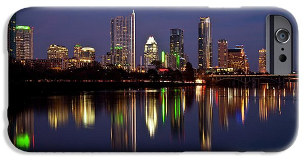 City Scape Photographs iPhone Cases - Austin Skyline iPhone Case by Mark Weaver