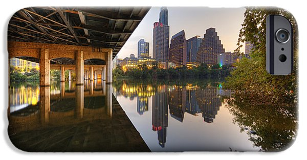 First Lady iPhone Cases - Austin Skyline Prints - the view from the First Street Bridge an iPhone Case by Rob Greebon