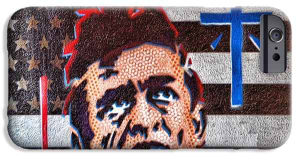 Recently Sold -  - Flag iPhone Cases - Austin Texas Johnny Cash Mural iPhone Case by Linda Phelps
