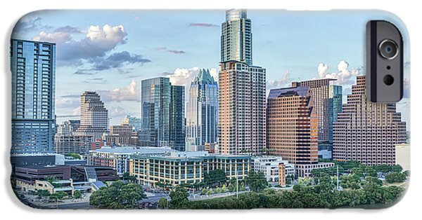 First Lady iPhone Cases - Austin Uptown Sky View iPhone Case by Tod and Cynthia Grubbs
