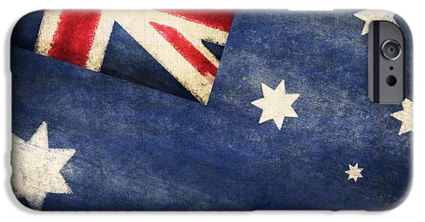 Patriotism iPhone Cases - Australia  flag iPhone Case by Setsiri Silapasuwanchai