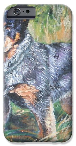 Cattle Dog iPhone Cases - Australian Cattle Dog 1 iPhone Case by Lee Ann Shepard