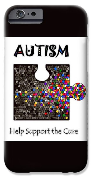 Disorder iPhone Cases - Autism Spectrum White iPhone Case by Cheryl Driscoll