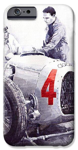 Auto Union C Type V16 B Rosenmeyer iPhone Case by Yuriy  Shevchuk