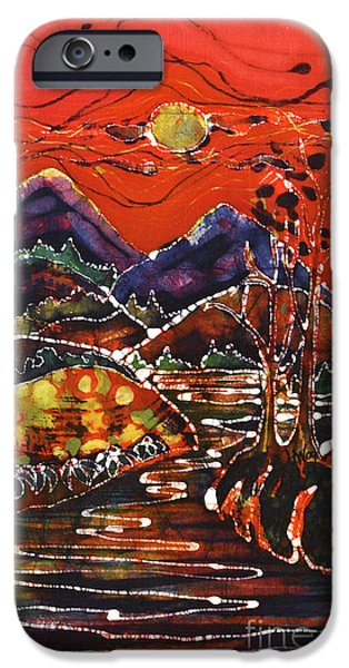 Fall Tapestries - Textiles iPhone Cases - Autumn Adirondack Sunset iPhone Case by Carol Law Conklin