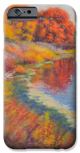 Autumn Landscape Pastels iPhone Cases - Autumn Afternoon 3 iPhone Case by Fiona Craig
