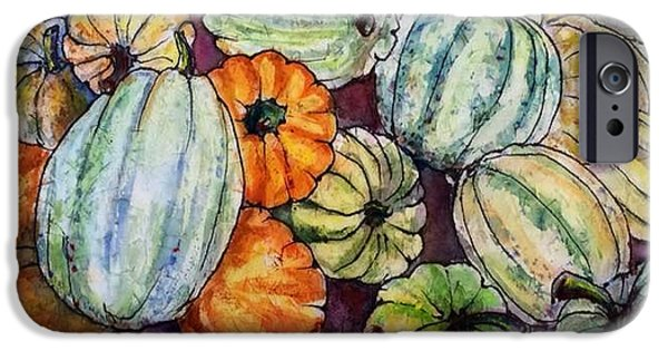 Farm Stand iPhone Cases - Autumn at Beths Farmstand iPhone Case by Gloria Avner