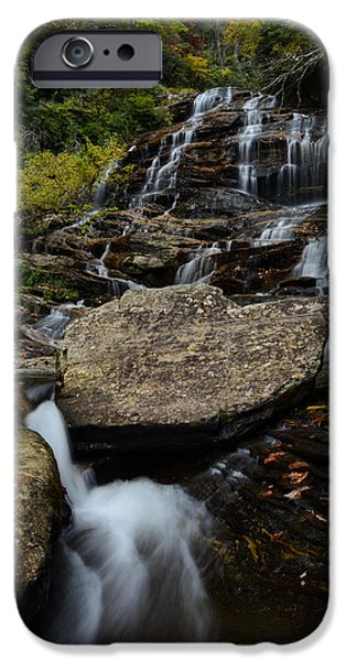 Autumn iPhone Cases - Autumn at Glen Falls iPhone Case by Deanna Duke