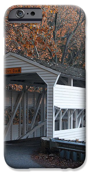 Autumn at Knox Covered Bridge in Valley Forge iPhone Case by Bill Cannon