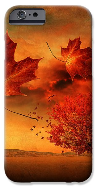 Autumn Blaze iPhone Case by Lourry Legarde