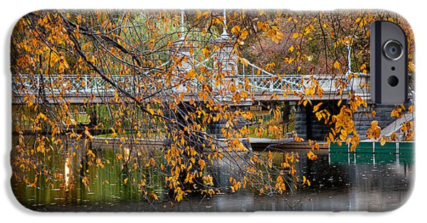 Recently Sold -  - City. Boston iPhone Cases - Autumn Bridge iPhone Case by Susan Cole Kelly