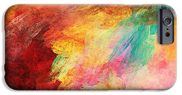 Expressionism Digital Art iPhone Cases - Autumn Colors 090910 iPhone Case by David Lane