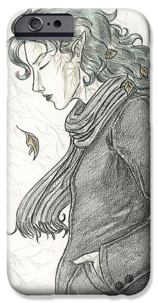 Morgan Le Fay iPhone Cases - Autumn Dryad iPhone Case by Brandy Woods