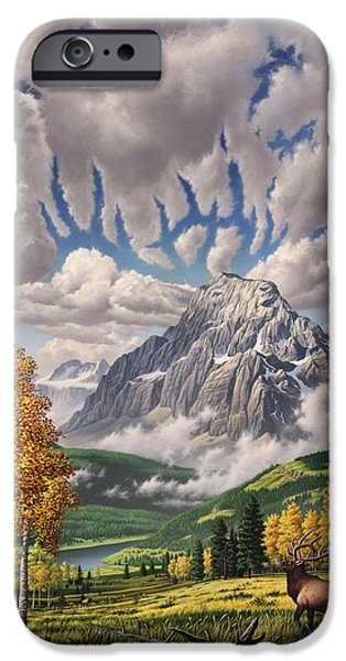Mist Paintings iPhone Cases - Autumn Echos iPhone Case by Jerry LoFaro