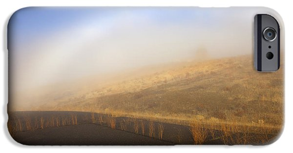 Yakima Valley iPhone Cases - Autumn Fog bow iPhone Case by Mike  Dawson
