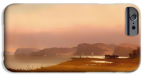 Autumn iPhone Cases - Autumn - Hudson River iPhone Case by John Williamson