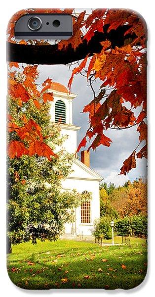 Autumn in Gilmanton iPhone Case by Robert Clifford