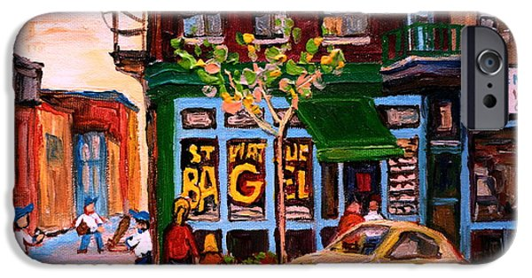 Montreal Bagels iPhone Cases - Autumn In The City iPhone Case by Carole Spandau