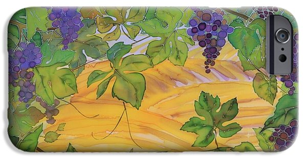 Silk Tapestries - Textiles iPhone Cases - Autumn In Wine Country iPhone Case by Carolyn Doe