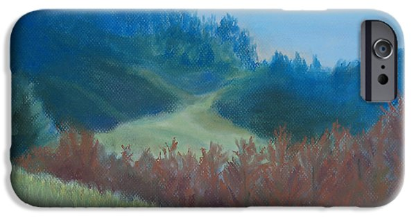 Morning Pastels iPhone Cases - Autumn Landscape of the Mind iPhone Case by Jenny Armitage