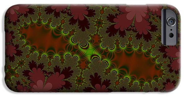 Floral Digital Art Digital Art iPhone Cases - Autumn Leaves iPhone Case by Regina Rodella