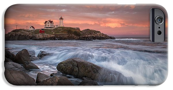 Nubble Lighthouse iPhone Cases - Autumn Light iPhone Case by Scott Thorp