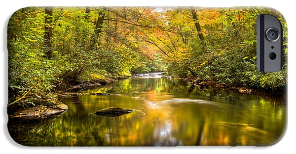 Oak Creek iPhone Cases - Autumn Mirror iPhone Case by Debra and Dave Vanderlaan