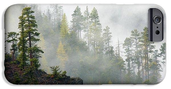 Ridge iPhone Cases - Autumn Mist iPhone Case by Mike  Dawson