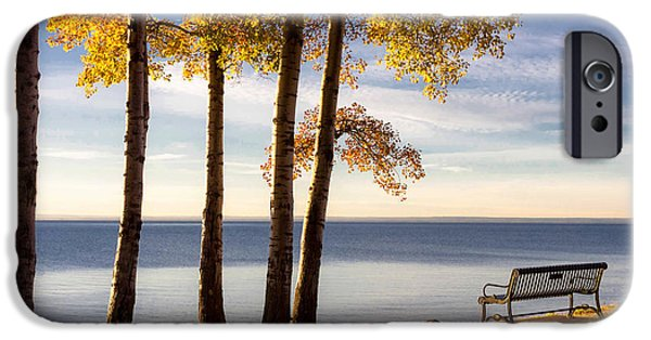 iPhone Cases - Autumn Morn on the Lake iPhone Case by Mary Amerman