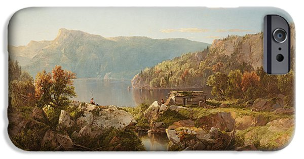 Destiny iPhone Cases - Autumn Morning on the Potomac iPhone Case by William Sonntag