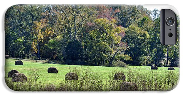 Arkansas iPhone Cases - Autumn Pastures iPhone Case by Jan Amiss Photography