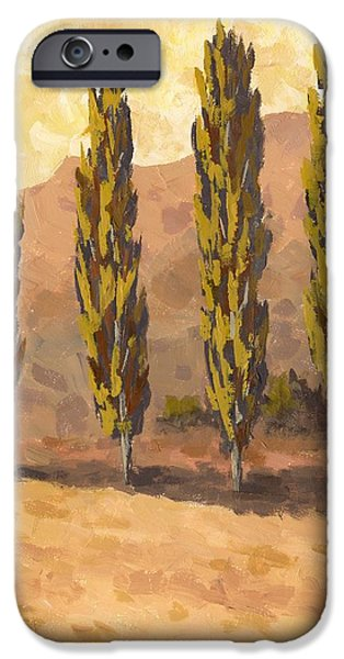 Snake iPhone Cases - Autumn Poplars iPhone Case by David King