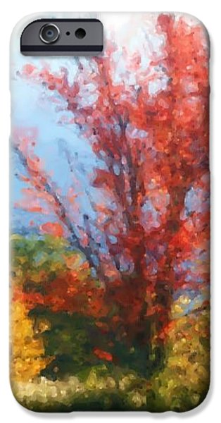 Autumn Red And Yellow iPhone Case by Smilin Eyes  Treasures