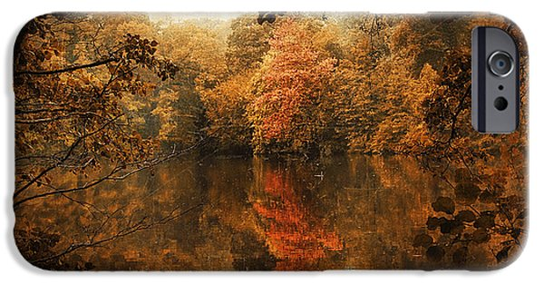 Autumn Digital iPhone Cases - Autumn Reflected iPhone Case by Jessica Jenney