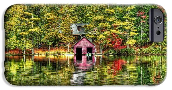 Foliage Photographs iPhone Cases - Autumn Reflections iPhone Case by Evelina Kremsdorf